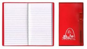 Tally Book w/ Translucent Vinyl Cover & Flat Matching Pen, Price/piece