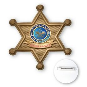 "Ventura Stock Sheriff Badge Polystyrene Button, Offset Lithography, 3"" Diameter, Price/piece"