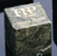 Custom Green Cube Genuine Marble Paperweight (2