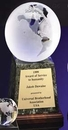 Custom Clear Glass World Globe Award w/ Base (6