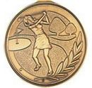Custom 500 Series Stock Medal (Female Golfer) Gold, Silver, Bronze