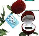 Custom Long Stem Rose w/ Genuine Pearl Earrings Imprinted