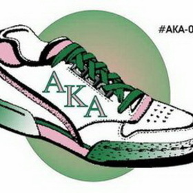 Alpha Kappa Alpha Sorority Shoe Lapel Pin, Price/piece