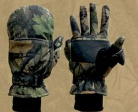 Northland Fleece Insulated Gloves/Mittens - Wood'n Trail Camo (M-XL), Price/piece
