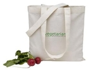 Custom V Natural Organic Gusset Tote Bag