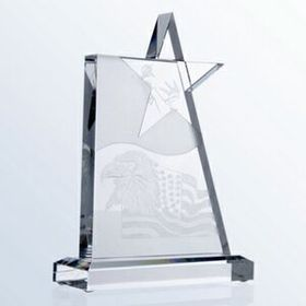 Optical Glass Star Tower Award (Sand Blast), Price/piece