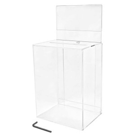 "Medium Clear Ballot Box with Riser (4.5"" Deep), Price/piece"