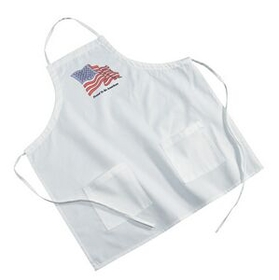 White Poly/ Cotton Twill BBQ Apron, Price/piece