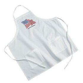 White Poly/ Cotton Twill BBQ Apron, Price/piece