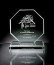 Custom Octagonus Maximus Award - Jade Glass (8 3/8