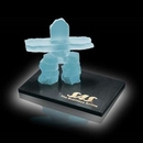 Custom Frosted Inukshuk Sculpture on Marble Base (6