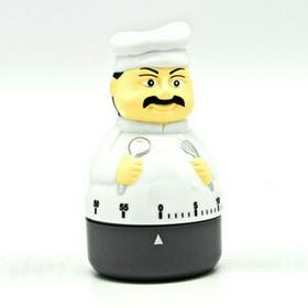 60 Minute Plastic Finished Chef Timer in Gift Box (Screen printed), Price/piece