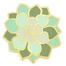 Custom Succulent Flower Pin, 3/4