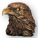 Blank Antique Brass Resin Eagle Head W/1/4