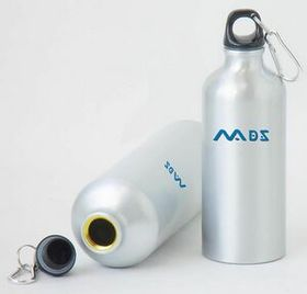 22 Oz Aluminum Sports Water Bottle w/Box (Screened) - White, Price/piece