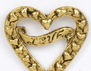 Custom Cut Out Heart w/ Love Banner Stock Cast Pin