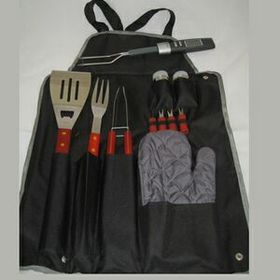 12 Pcs BBQ Apron w/Temp Fork (Screen), Price/piece