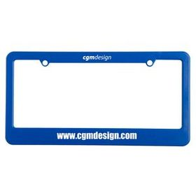 "Evans License Plate Frame (2 Hole, Straight Bottom), Screen Printed, 12 1/4"" W X 6 3/8"" H X 1/4"" D, Price/piece"