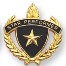 Blank Fully Modeled Epoxy Enameled Scholastic Award Pins (Star Performer), 7/8