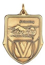 Custom 100 Series Stock Medal (Male Swimming) Gold, Silver, Bronze
