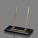 Genuine Black Marble Vista Rectangle Pen Stand