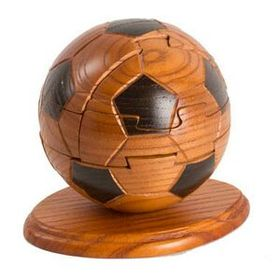 Unique Mahogany Soccer Ball Puzzle (Screened), Price/piece
