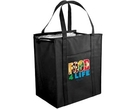 Custom Non Woven Large Insulated Tote Bag w/ Zipper (Full Color Digital)