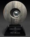 Custom Large Slate Ace Round Award on Rectangle Base