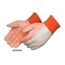 Custom 10 Oz. Canvas Work Gloves w/ Orange PVC Dots
