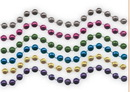 Custom Assorted Colors 7.5 Mm Bead Necklaces