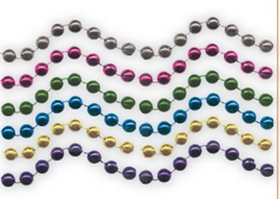 Assorted Colors 7.5 Mm Bead Necklaces