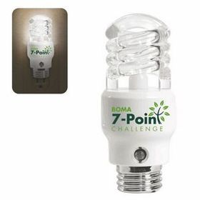 "Illini Cfl Light Bulb Shaped Night Light, Pad Printed, 1 1/2"" Diameter X 3 1/2"" H, Price/piece"