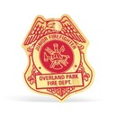 Gill Line Custom Firefighter Shield Paper Lapel Sticker On Roll (2 1/2
