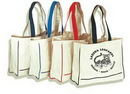 Custom 15 Oz. Cotton Canvas Tote Bag (19