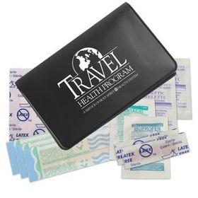 "Evans First Aid Traveler First Aid Kit, Pad Printed, 4 1/2"" W X 2 7/8"" H X 1/2"" D, Price/piece"