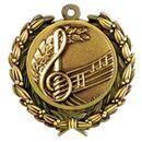 Custom Stock Music Medal w/ Wreath Edge (1 1/2
