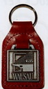 Custom Die Cast Square Leather Fob (1 1/4