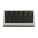 Custom Elegance Carbon Fiber Executive Gift Collection - Nickel Plated Card Case