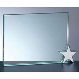 Achievement Award W/ Chrome Star Holder (6x8) - Screened, Price/piece