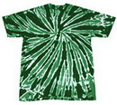Blank Dark Green Twist Tye Dye T-Shirt