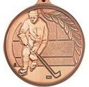 Custom 500 Series Stock Medal (Male Hockey Player) Gold, Silver, Bronze