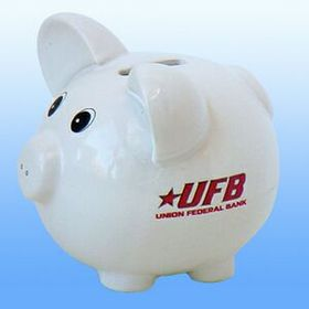 Jumbo White Ceramic Piggy Bank, Price/piece