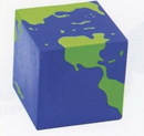 Custom Earth Cube Stress Reliever Squeeze Toy