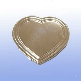 Silver Plated Heart Compact Mirror (Screened), Price/piece