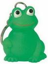 Goodview Custom Rubber Mini Frog Key Chain, Screen Printed, 1 1/4