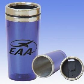 16 Oz Translucent Tumbler Mug W/ Spill Proof Lid (Screened), Price/piece