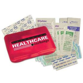 "Evans Protect First Aid Kit, 3 1/8"" H X 4 5/16"" W X 13/16"" D, Screen Printed, Price/piece"