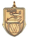 Custom 100 Series Stock Medal (Scholastic) Gold, Silver, Bronze