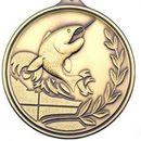Custom 500 Series Stock Medal (Fishing) Gold, Silver, Bronze