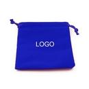 Custom Drawstring Velvet Pouch Gift Jewelry Bag, 3.5